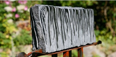 Rain 1 - granite on steel - SOLD.