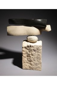 Weathervane - granite, limestone, beach rock, bearings on limestone SOLD