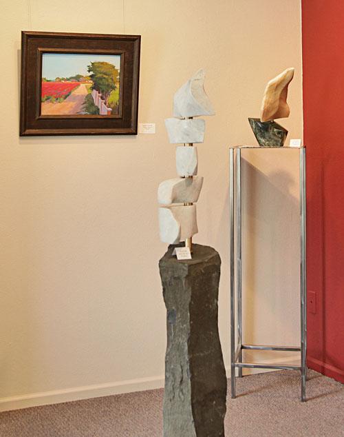 White Flag - marble, bearings on basalt - $3800