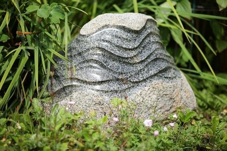 Stone Wave, granite boulder