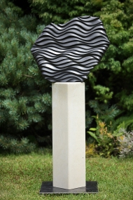Waves at Night, basalt on limestone-SOLD